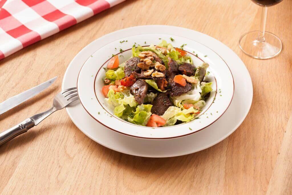 Salade de gésiers d'oie confits